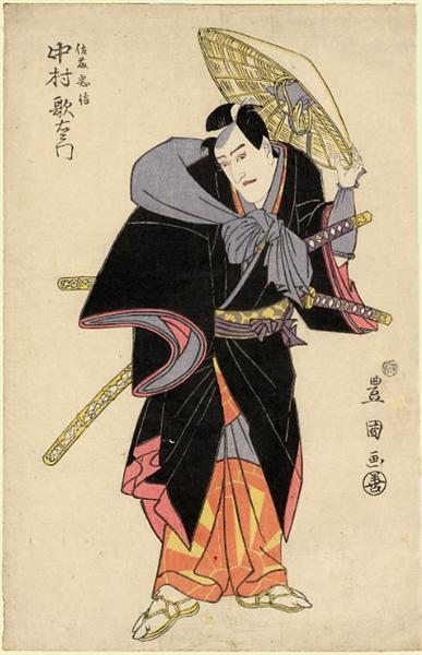 Actor in Role, c.1810 - Утаґава Тойокуні