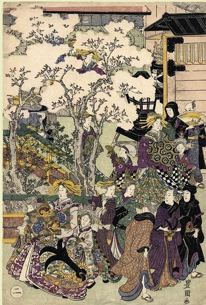 The Promenade, c.1810 - Utagawa Toyokuni