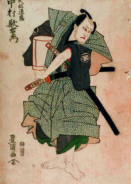 Utaemon Nakamura III as Genzō Takebe by Toyokuni Utagawa I, c.1801 - Utagawa Toyokuni