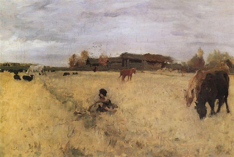 October. Domotcanovo, 1895 - Valentin Serov