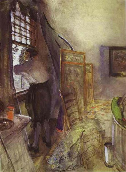 Peter I in the Palace of Monplaisir. Unfinished, 1910 - 1911 - Valentin Serov