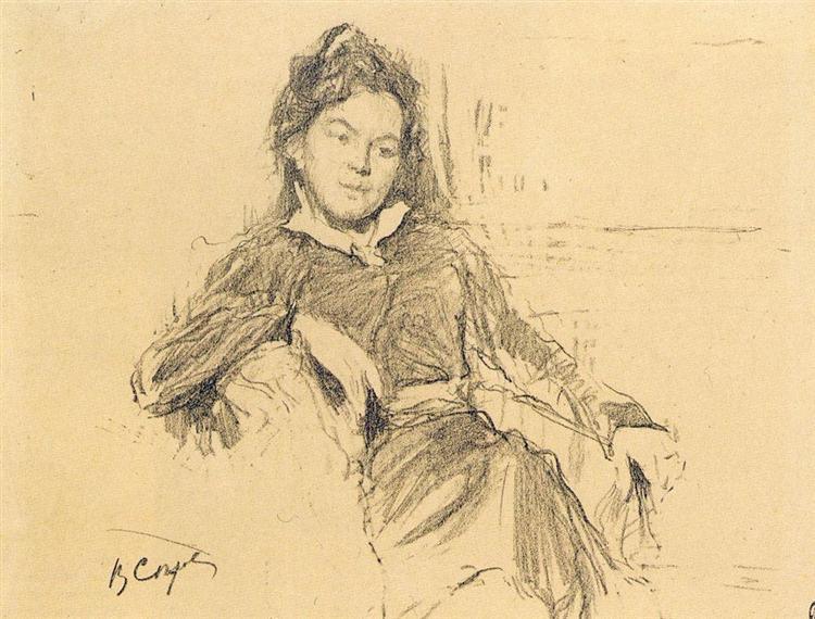 Portrait of the artist A.P.Ostroumova-Lebedeva, 1899 - Valentin Serov