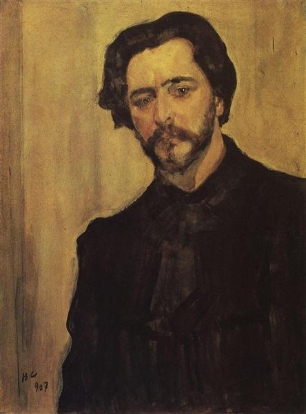 Portrait of the Writer Leonid Andreev, 1907 - Valentin Serov