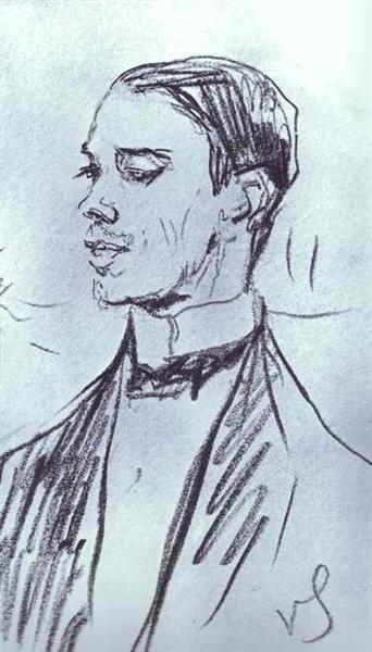 Portrait of Vazlav Nizhinsky, 1910 - Valentin Serov
