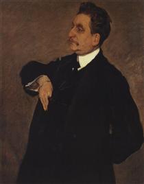 Portrait of Vladimir Girshman - Valentin Serov