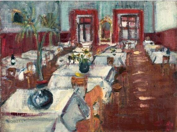 Restaurant Interior, 1938 - Varlin
