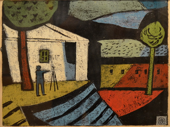 Painter in Landscape, 1963 - Vasile Dobrian
