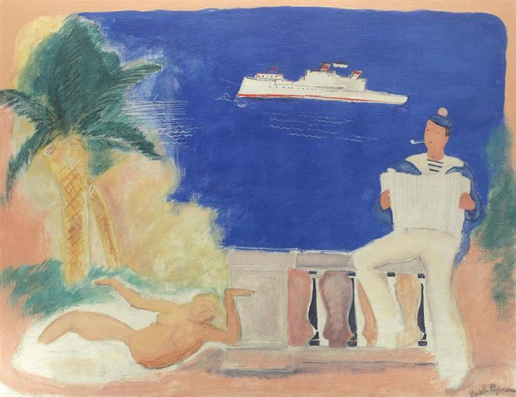 Composition with Sailor and Siren - Vasile Popescu
