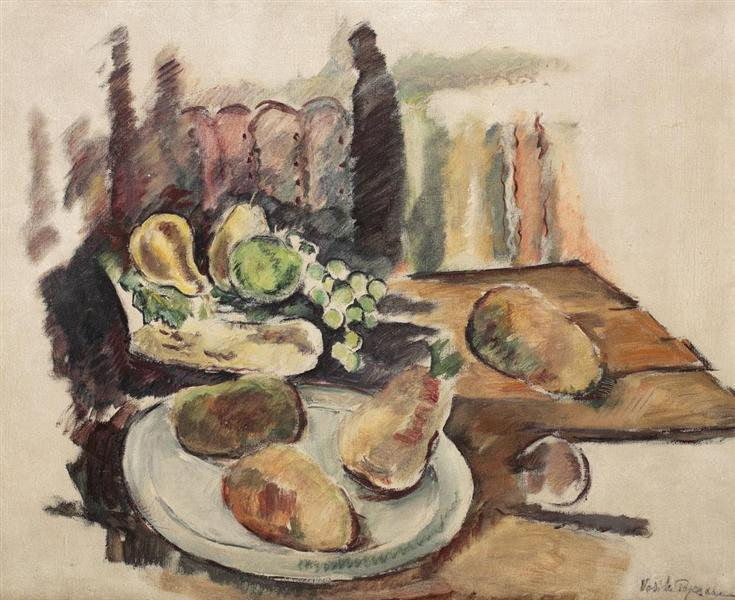 Table with Fruits in Balchik, 1938 - Vasile Popescu