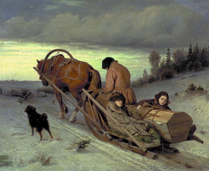Last Journey, 1865 - Vassili Perov