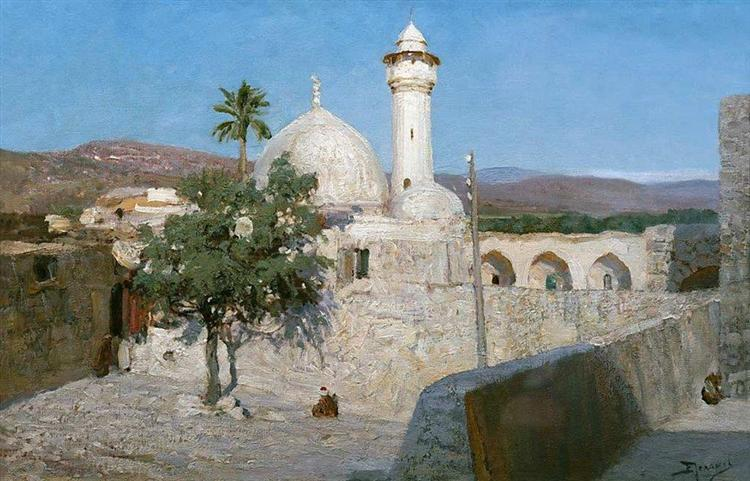 The mosque in Jenin, 1903 - Vasily Polenov