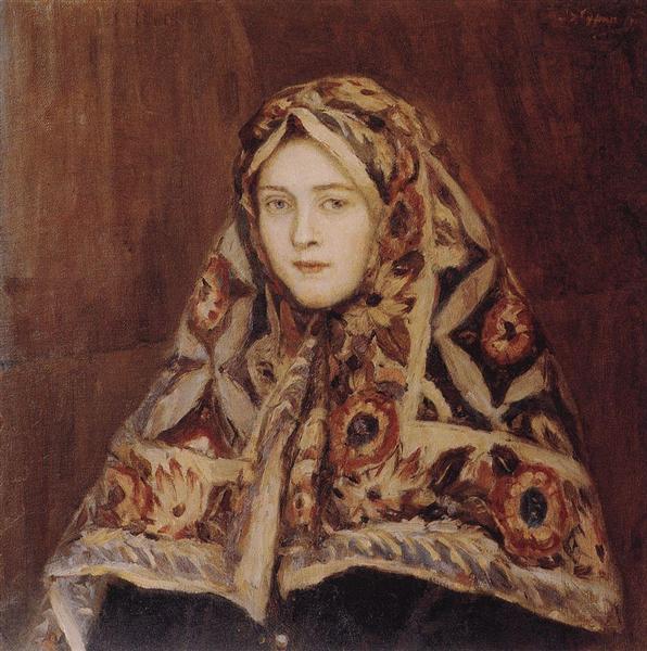 Anfisa, c.1905 - Vasily Surikov