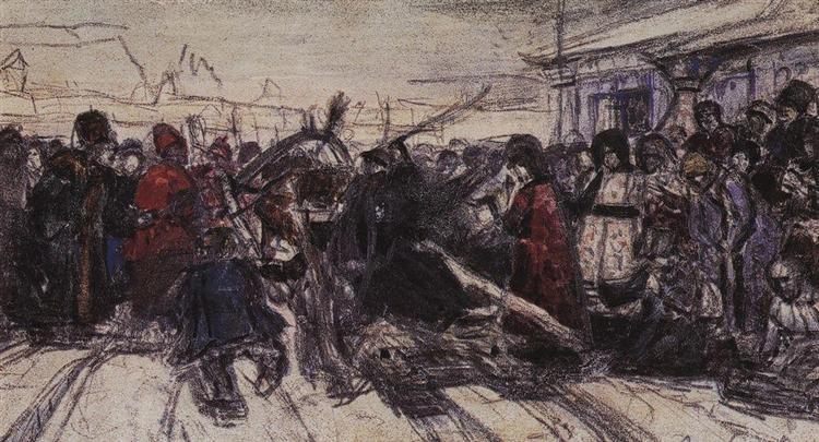 Boyarynya Morozova (study), c.1883 - Vasily Surikov