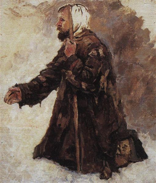 Kneeling beggar, c.1886 - Vasily Surikov