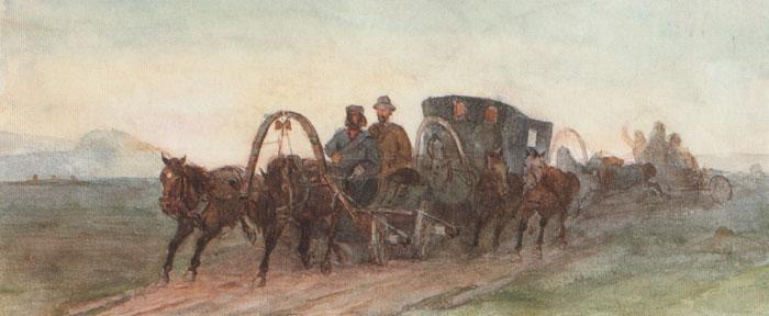 Minusinsk. On the way., 1873 - Vasily Surikov