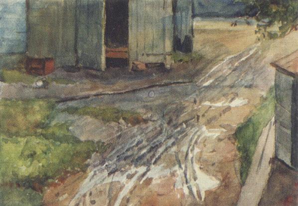Moscow yard, 1880 - Vasily Surikov