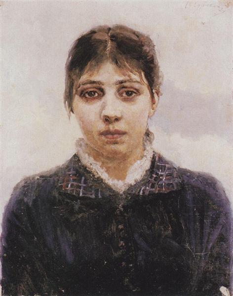 Portrait of E. A. Surikova, c.1887 - Vasily Surikov