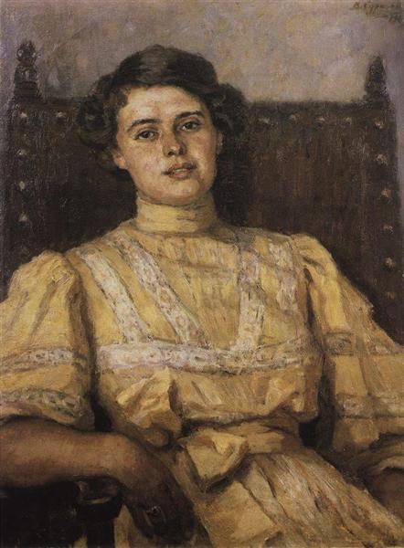 Portrait of E. N. Sabashnikova, 1907 - Vasily Surikov