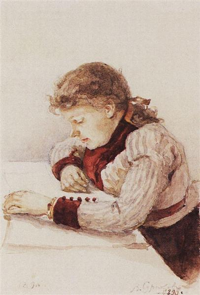 Portrait of K. M. Verkhoturova, 1890 - Wassili Iwanowitsch Surikow