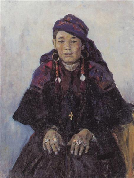Portrait of khakasy, 1909 - Vasily Surikov