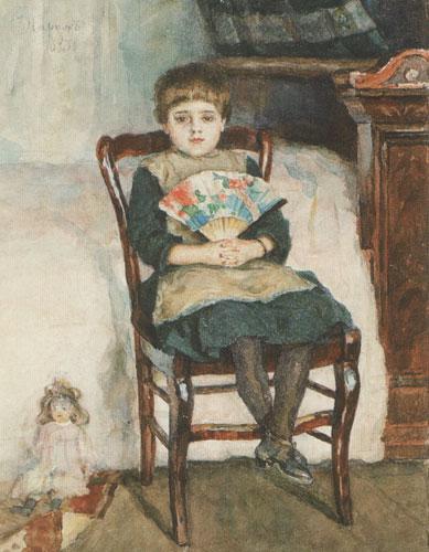Portrait of Olga Surikova in childhood, 1883 - Vassili Sourikov