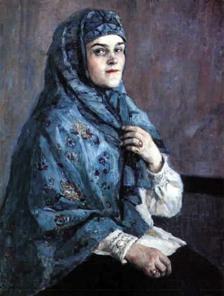 Portrait of princess P. I. Shcherbatova, 1910 - Vasily Surikov