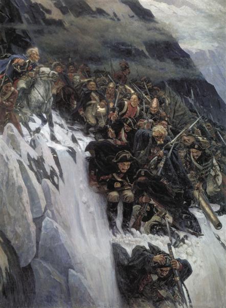 Russian Troops under Suvorov Crossing the Alps, 1899 - Vasily Surikov