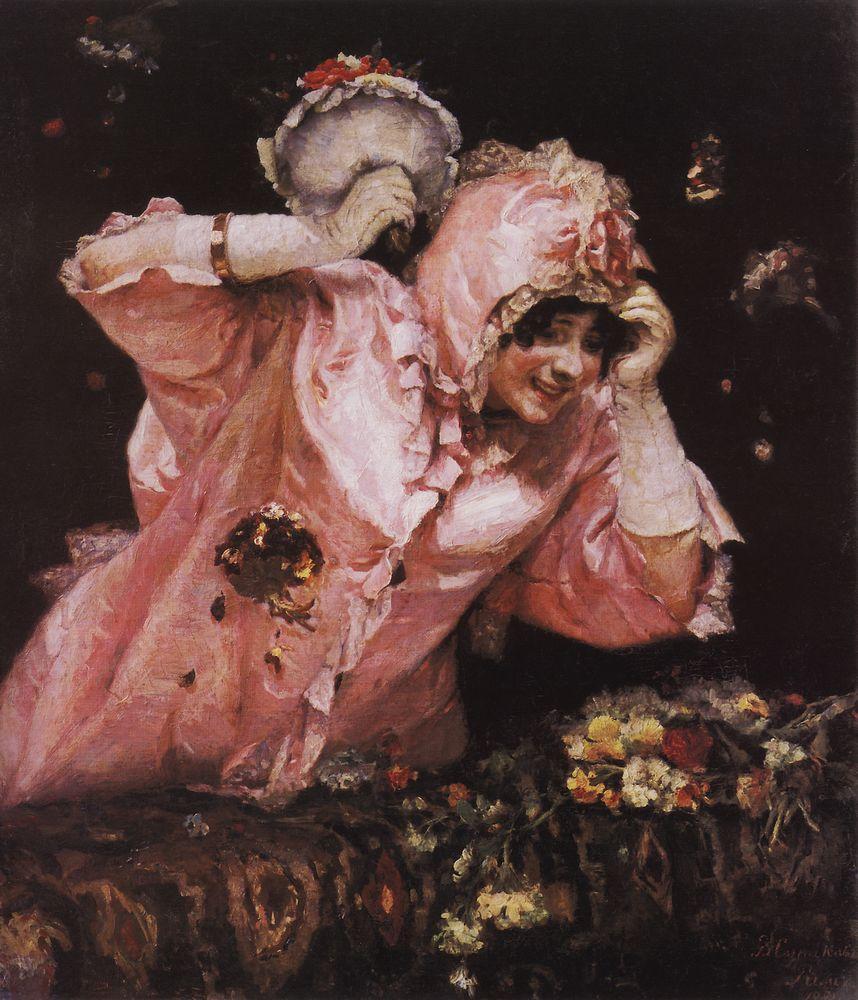 Vasily Surikov Scene-from-the-roman-carnival-1884