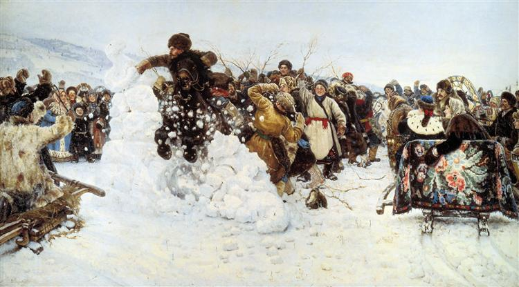 Taking a snowy town - Vasily Surikov