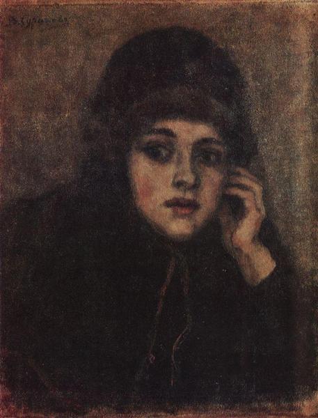The head of nun - Vasily Surikov
