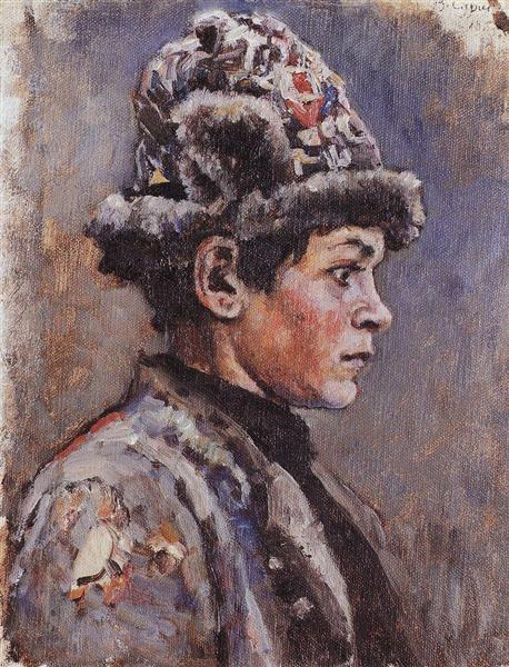 Thoughtful teenager, 1885 - Vasily Surikov