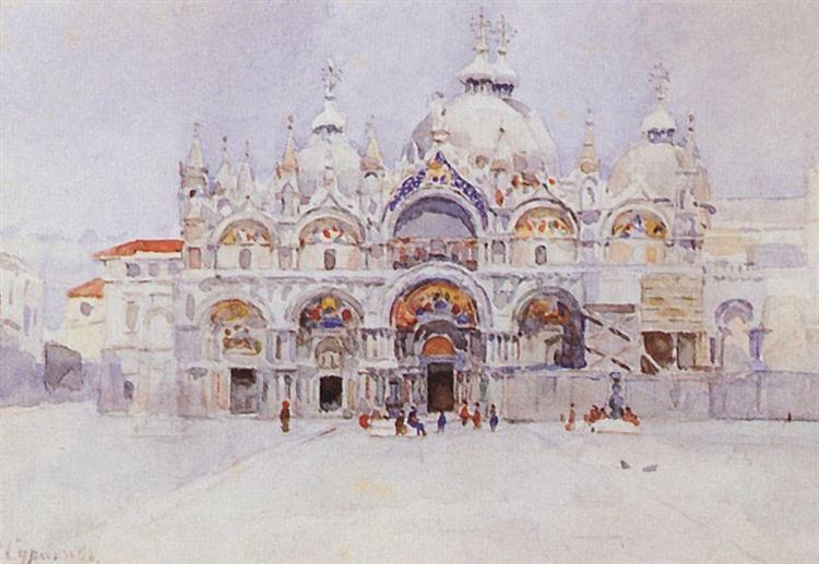 Venice. Saint Mark's Basilica., 1884 - Vasily Surikov