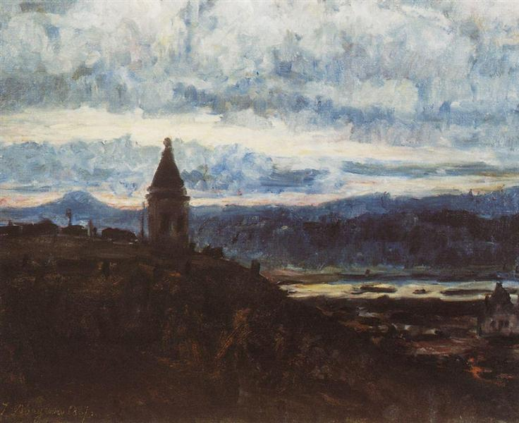View of Krasnoyarsk, 1887 - Vasily Surikov