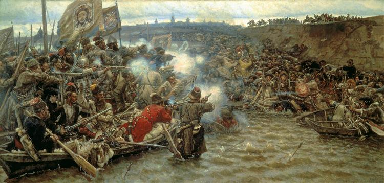 Yermak's conquest of Siberia - Vasily Surikov