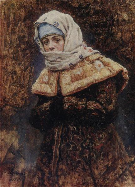 Young lady, 1886 - Vasily Surikov