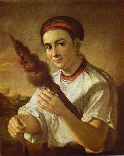A Spinner, 1820 - Vasily Tropinin