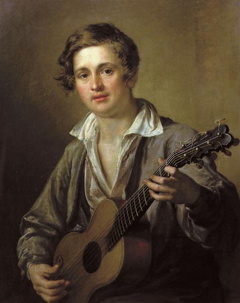 Guitarist, 1823 - Vasily Tropinin