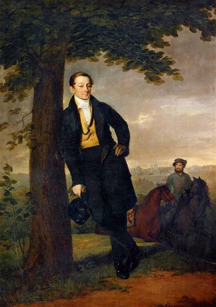 Portrait of A.I. Baryshnikov, 1829 - Vasily Tropinin