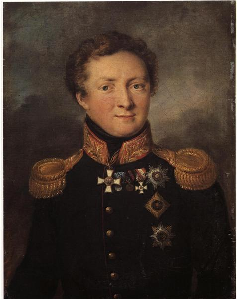 Portrait of General AI Gorchakov - Vasily Tropinin