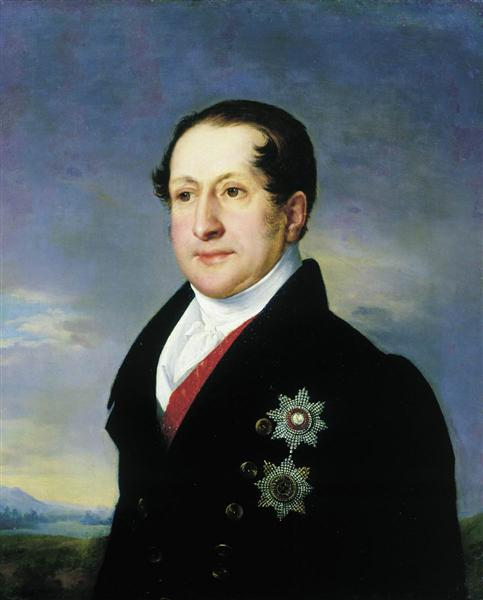 Portrait of Prince Golitsyn, 1828 - Vasily Tropinin