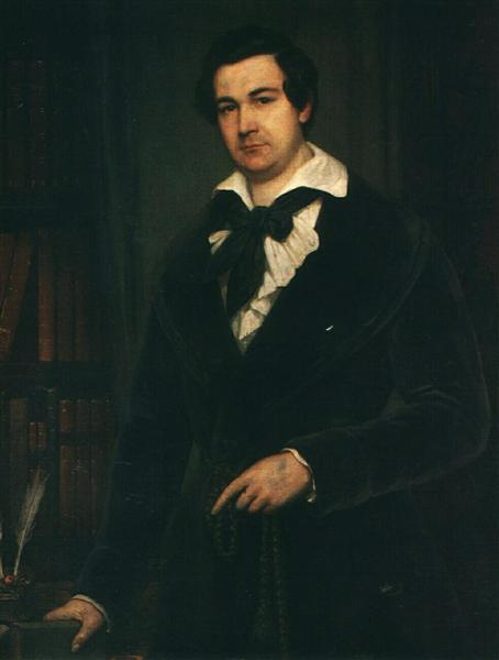 Portrait of the Actor V. A. Karatyghin, 1842 - Vasily Tropinin