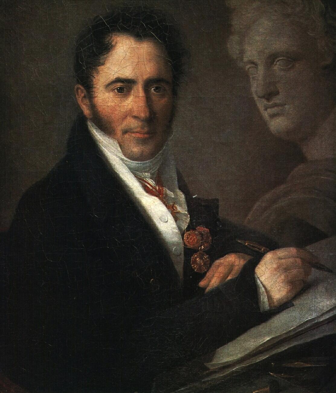 Portrait of the Artist N.I. Utkin with a Pencil, 1841 - Vasily Tropinin