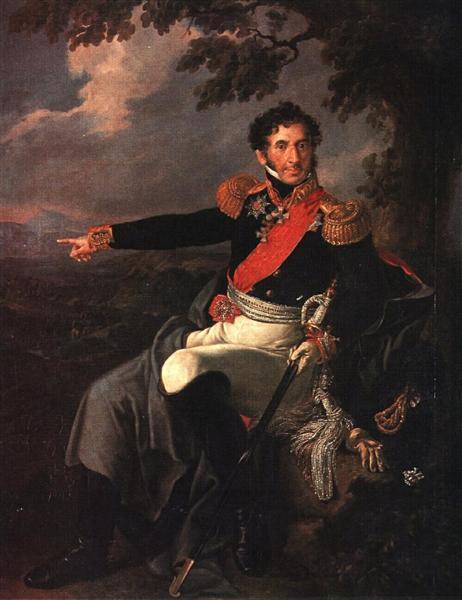 Portrait of the Prince P. I. Bagration, 1815 - Vasily Tropinin