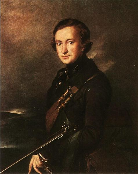 Portrait of Yu. F. Samarin in the Hunting Dress, 1846 - Vasily Tropinin