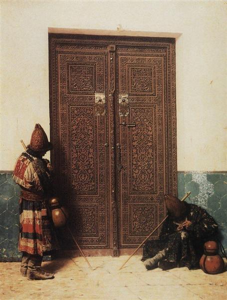 At the Door of a Mosque, 1873 - Vasily Vasilievich Verechagine