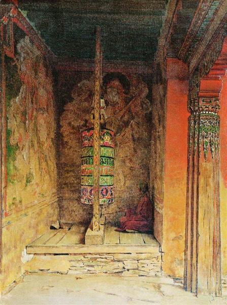 Buddhist Prayer Machine, 1875 - Vasily Vereshchagin