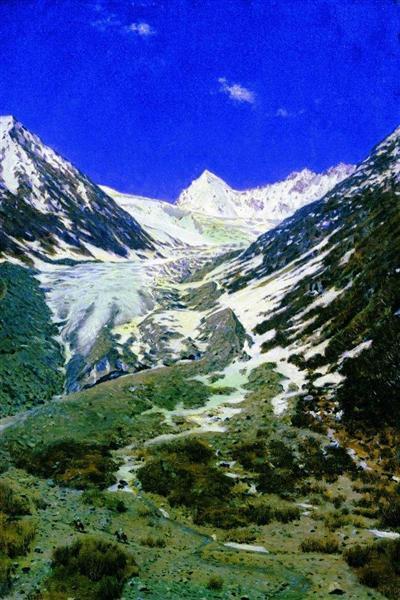 Glacier on the way from Kashmir to Ladakh, 1875 - Vasily Vereshchagin
