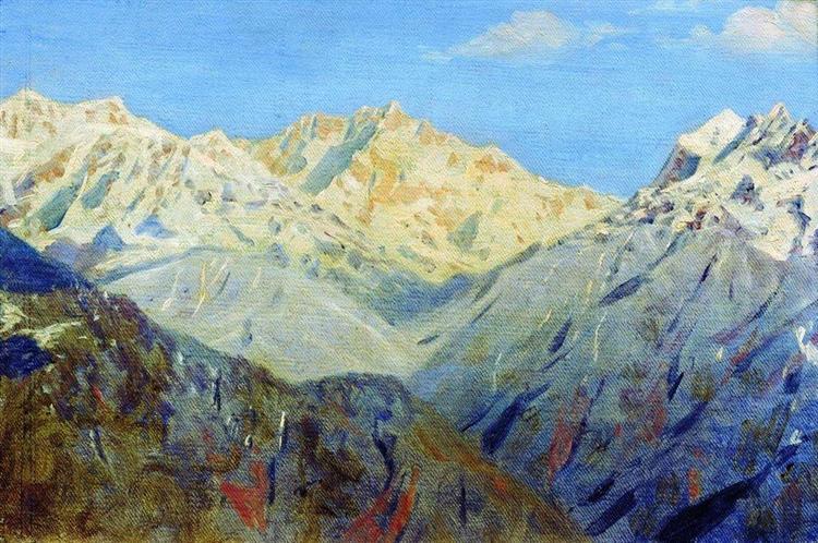 Himalayas. The main peak, 1875 - Vasily Vereshchagin