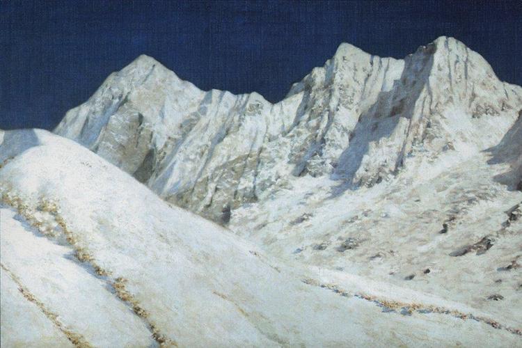 In India. Himalayas snow, 1874 - 1876 - Vasily Vereshchagin