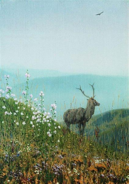 In the Alatau mountains, 1869 - 1870 - Vasily Vereshchagin